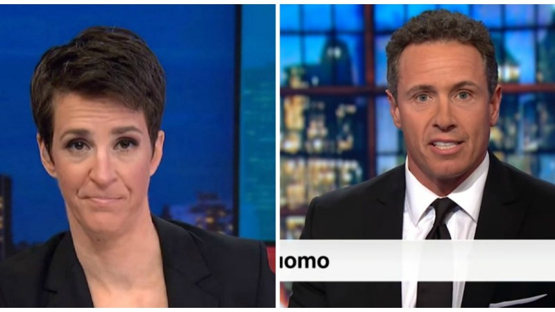 Maddow Most-Watched In Cable Television Tuesday Night, Cuomo Beats Hannity In Key Demo