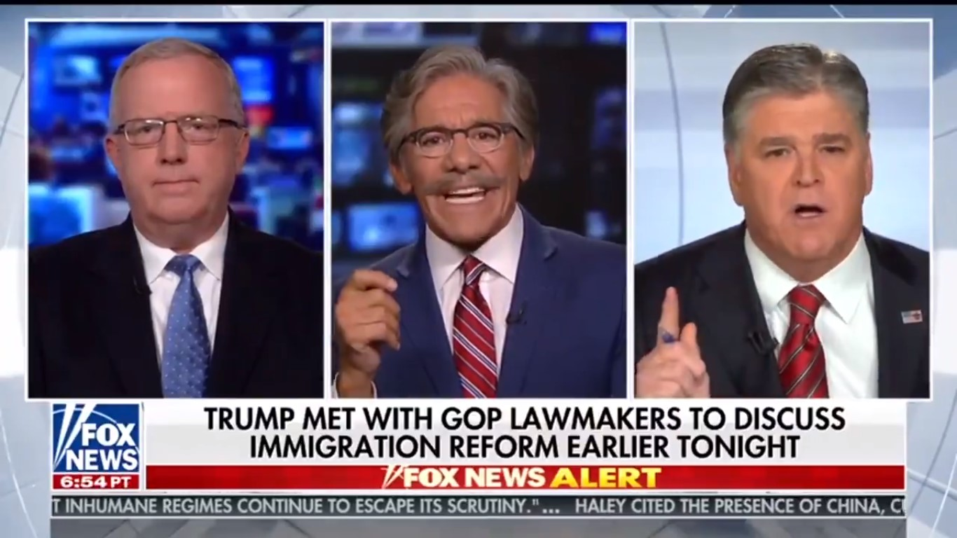 Geraldo Blows Up On Hannity And Guest Over Migrant Child Crisis: 'This Is Child Abuse!'