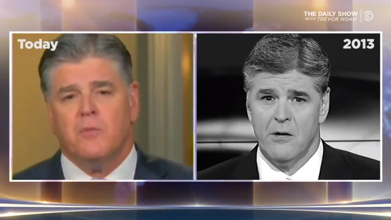 'Daily Show' Uses Hannity's Own Words To Expose His Hypocrisy Over Trump-Kim Summit