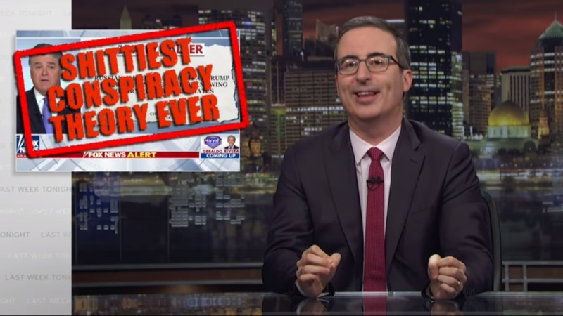 John Oliver Tears Into Sean Hannity For Pushing The 'Sh*ttiest Conspiracy Theory Ever'