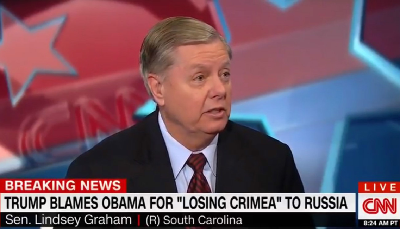 Lindsey Graham During Live CNN Hit: 'I Don't Give A Shit' If You Don't Like Me Working With Trump