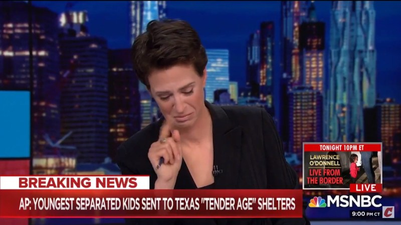 Maddow Breaks Down As She Delivers News That Migrant Babies Have Been Sent To 'Tender Age' Shelters