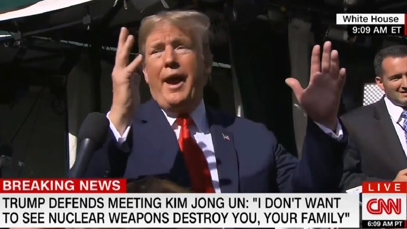 Trump Insults CNN Reporter For Asking About North Korea: 'You're With CNN? You're The Worst!'