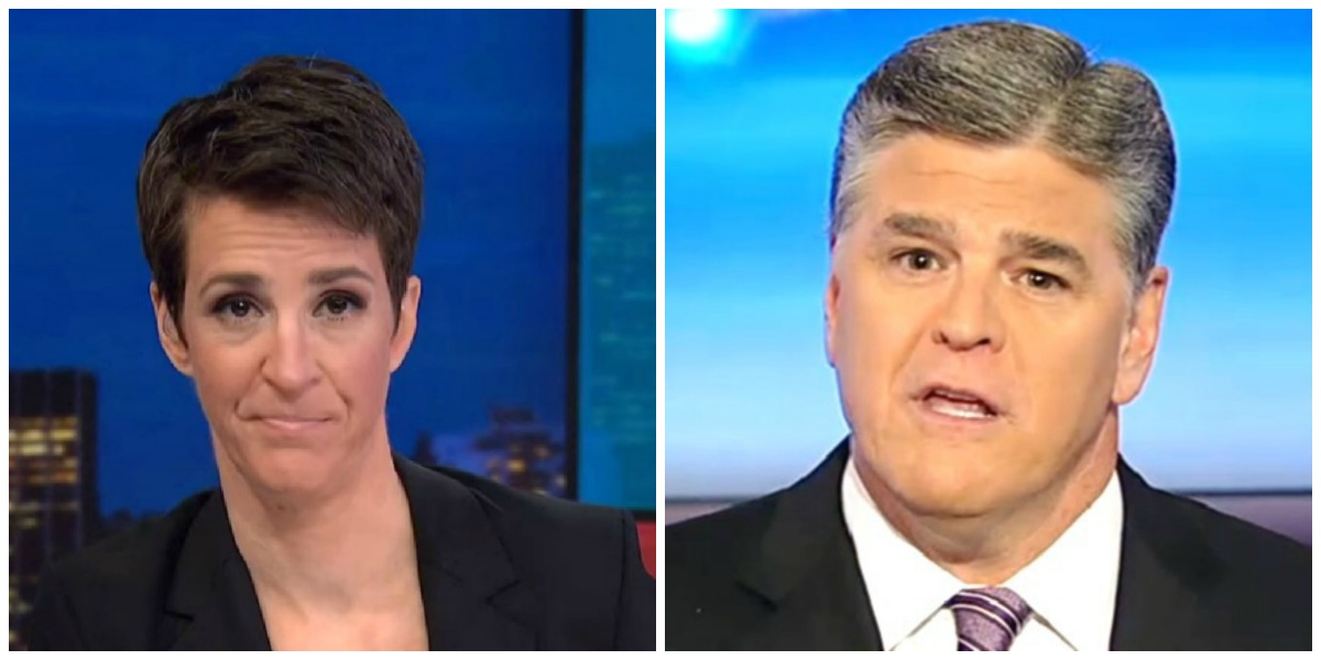 Maddow Defeats Hannity Head-To-Head Tuesday Night, Tops Cable TV In Total Viewers
