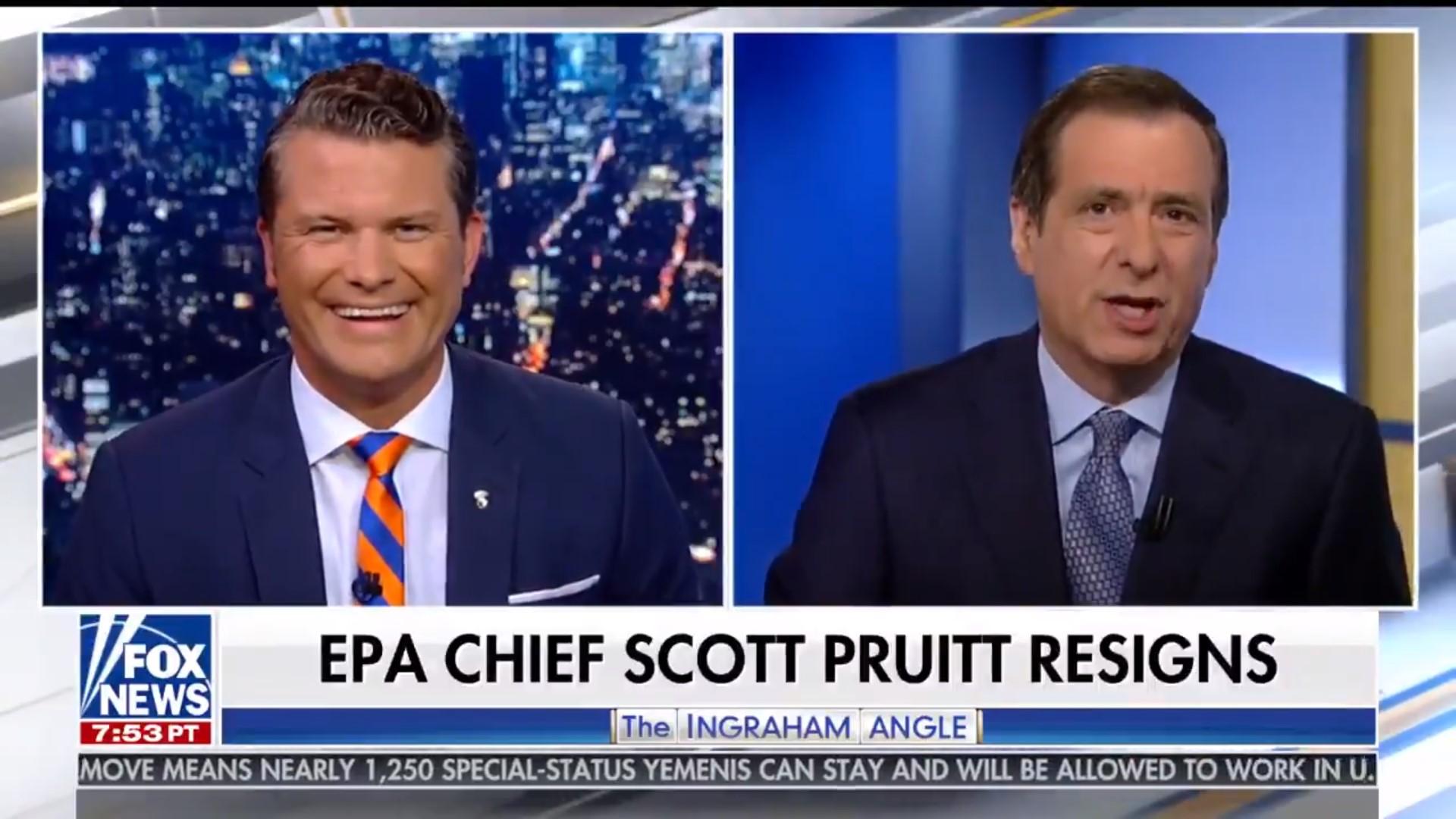 Fox News' Primetime Lineup Spent A Grand Total Of One Minute Covering Scott Pruitt's Resignation