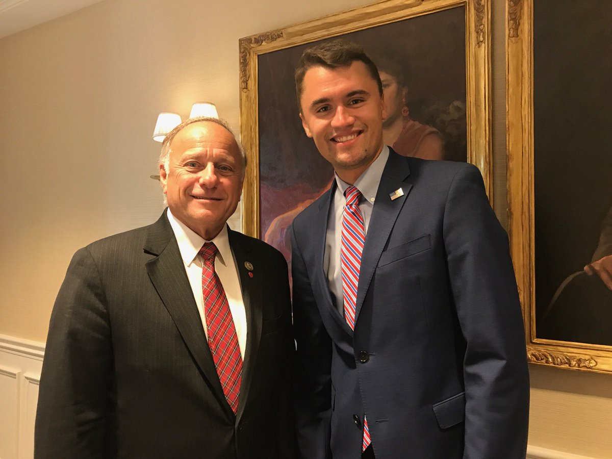 Rep. Steve King Teams Up With Charlie Kirk To Spread White Nationalist Propaganda