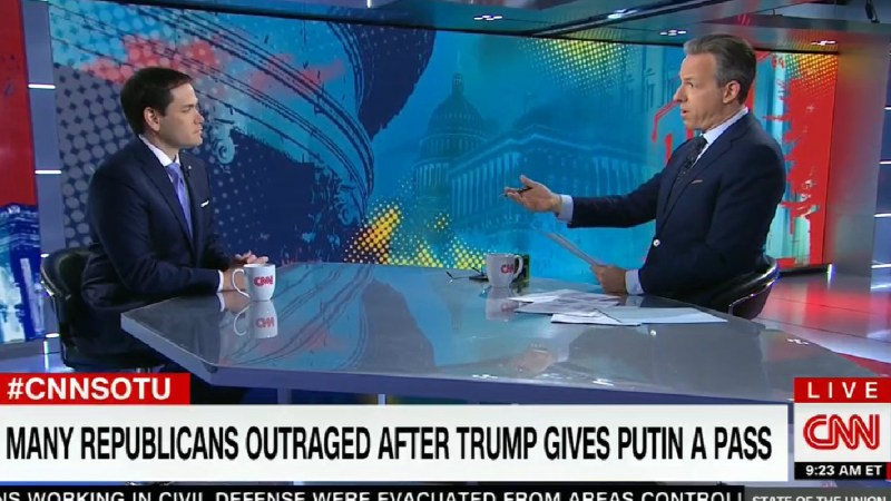 Jake Tapper To Marco Rubio: Aren't 'You Being Remarkably Forgiving' Of Trump's Behavior Towards Putin?