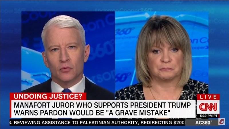 Pro-Trump Manafort Juror: 'I Challenge' POTUS To Wear A 'Make America Kind Again' Hat