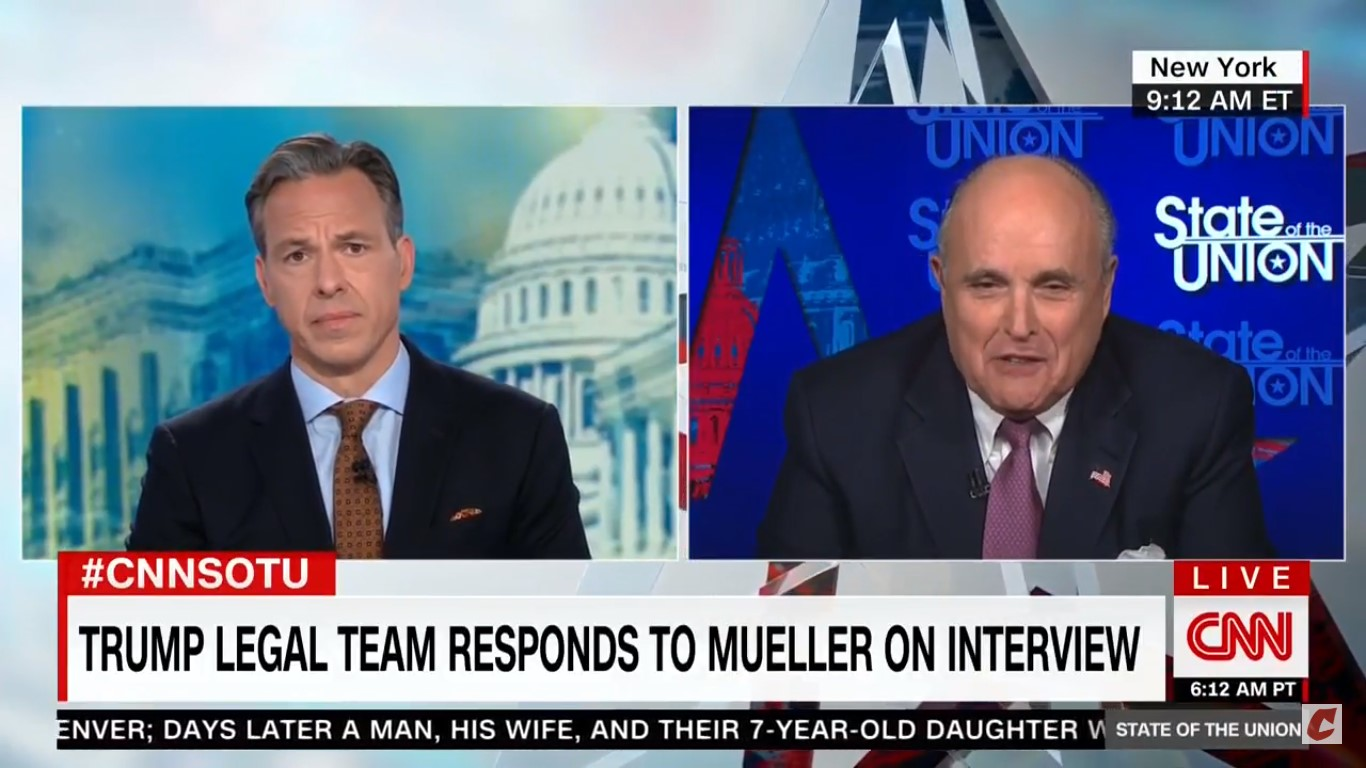 Giuliani Insists He Never Said Trump Asked Comey To Give Flynn A Break, Tapper Plays Clip Of Him Saying It