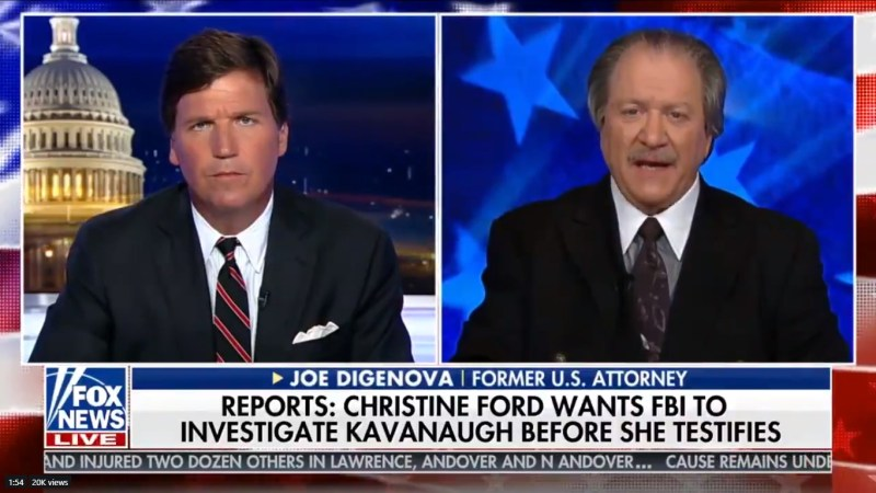Fox News Guest: Christine Ford Won't Testify Because She'll 'Look Like The Loon That She Is'
