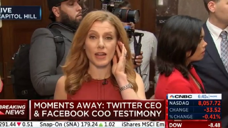 CNBC Reporter's Live Shot From Senate Hearing Marred By Alex Jones Ranting In Background