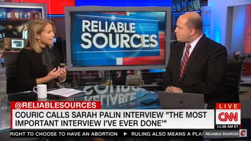Katie Couric: Sarah Palin's 'Anti-Intellectual' Rhetoric Paved Way For Trump's 'Anti-Media Sensibilities'