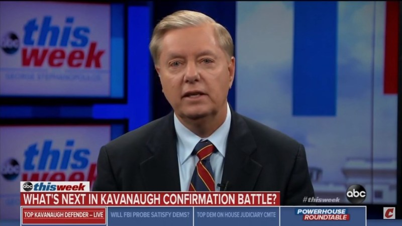 Lindsey Graham: 'Devil's Triangle Is Not What People Have Said On The Internet…It's A Drinking Game'