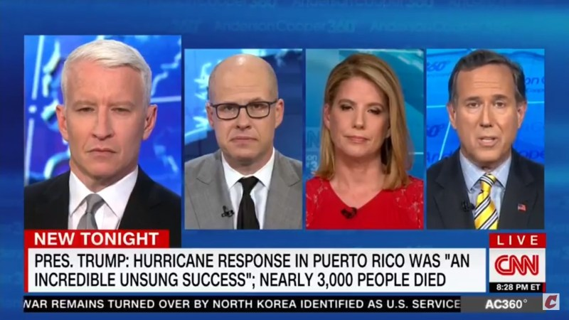 Rick Santorum Blames The 'Country Of Puerto Rico' For Its 'Woefully Deficient' Response To Maria