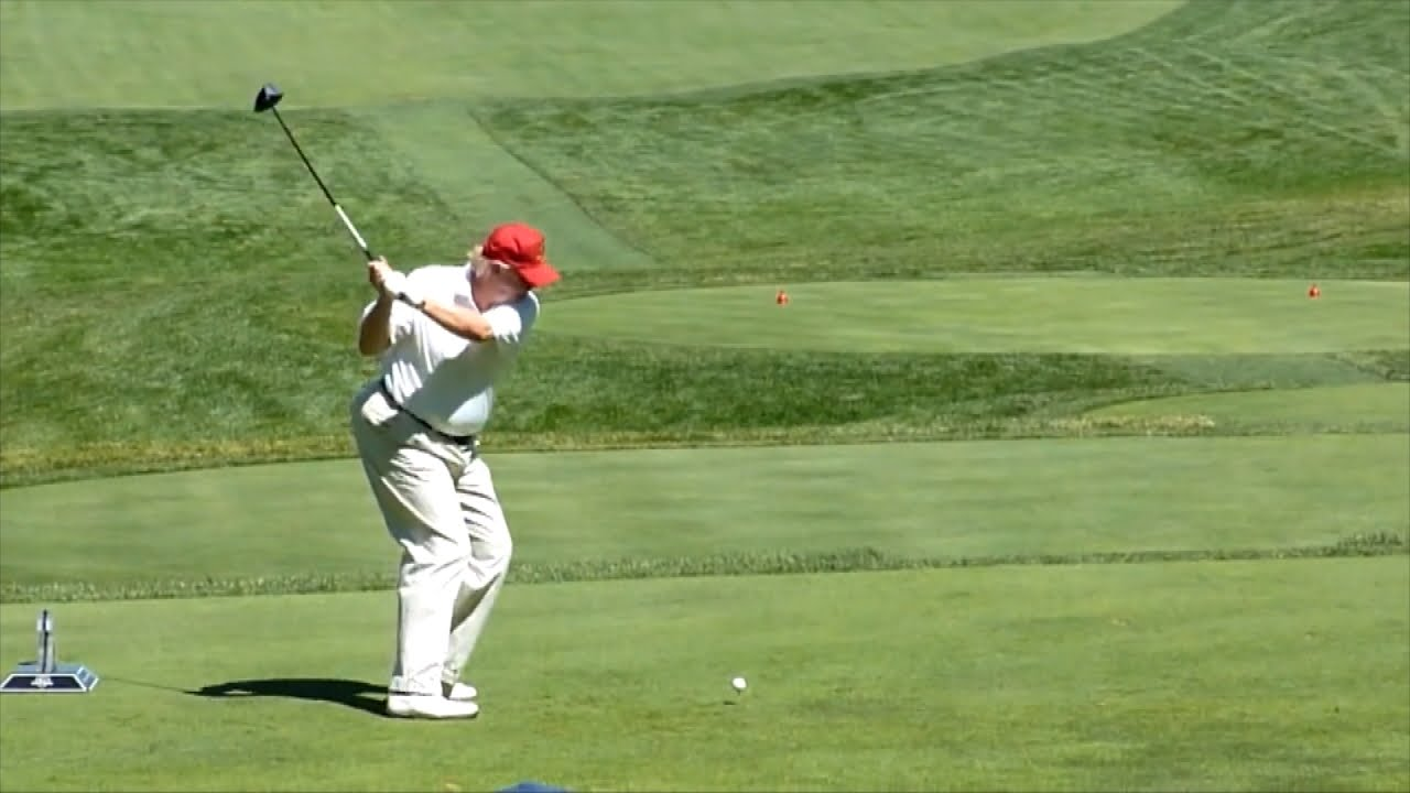 Trump Heads To His Golf Course During John McCain's Memorial Service