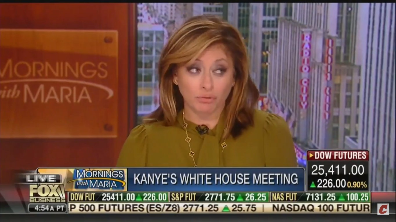 Fox's Maria Bartiromo Brushes Off Kanye's Oval Office F-Bomb: 'Did You Forget The Blue Dress?'