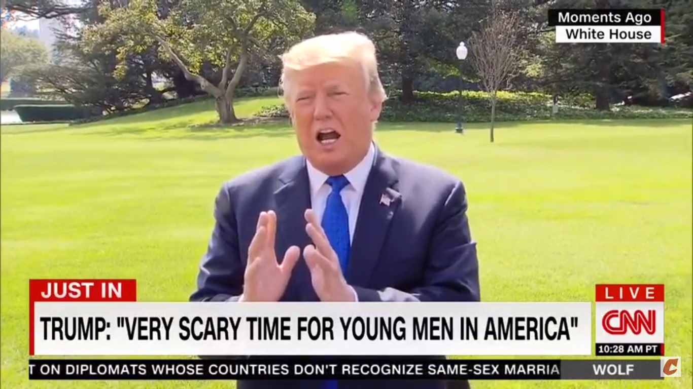 Trump: 'It's A Very Scary Time For Young Men In America,' 'Women Are Doing Great'