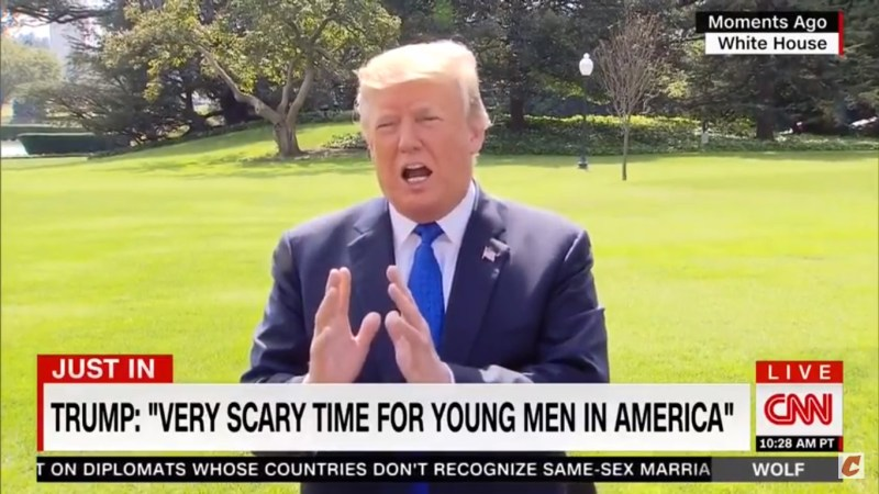 I Agree, Mr. President, It Is 'A Very Scary Time For Young Men In America'