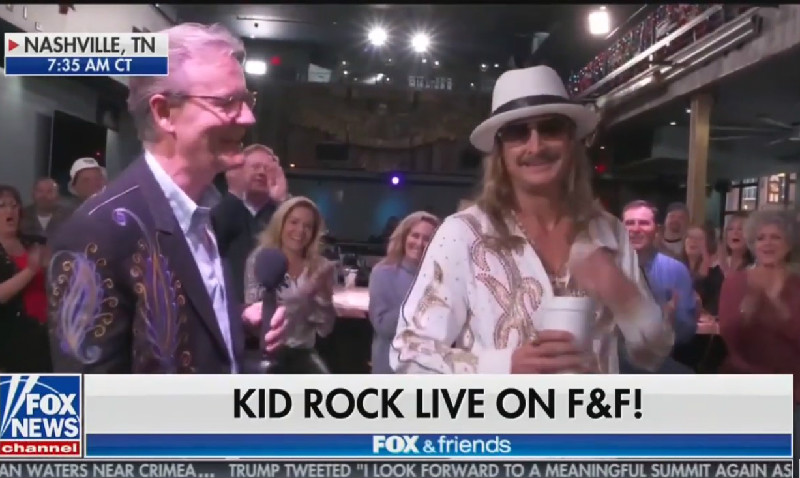 Kid Rock Tells Fox & Friends We Should 'Love Everybody' But 'Screw That Joy Behar Bitch!'