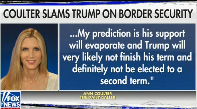 Trump Unfollows Ann Coulter On Twitter After She Unloads On Him For Caving On Border Wall