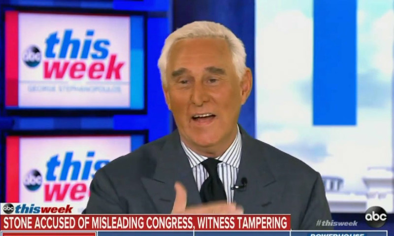 Roger Stone Says Indictment Against Him Is 'Thin As Piss On A Rock'