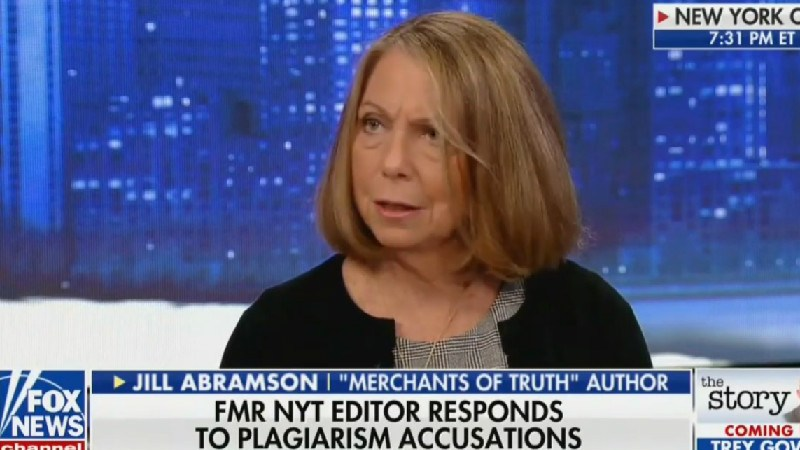 Following Plagiarism Accusations, Jill Abramson Says She'll 'Review The Passages In Question'