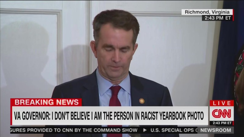 Ralph Northam's Remarkable Two-Day Skid: From Abortion Voice of Reason to Racist, Lying Idiot