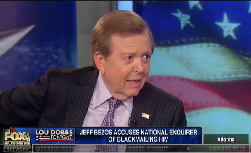 Lou Dobbs Wonders Why Jeff Bezos Didn't Pay Off David Pecker: 'Just Buy the Thing!'