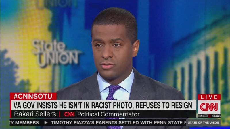 CNN's Bakari Sellers: When You Dress Up In Blackface 'You're Calling Me N*gger'