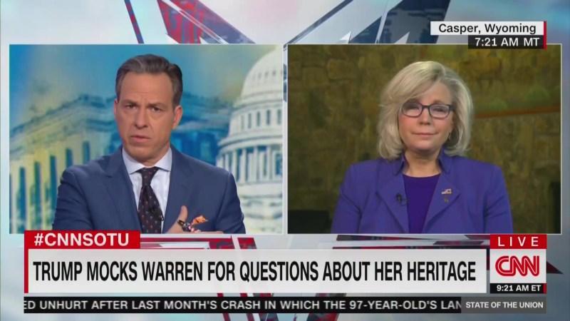 Liz Cheney Ignores Trump's Native American Genocide Joke, Instead Attacks Elizabeth Warren