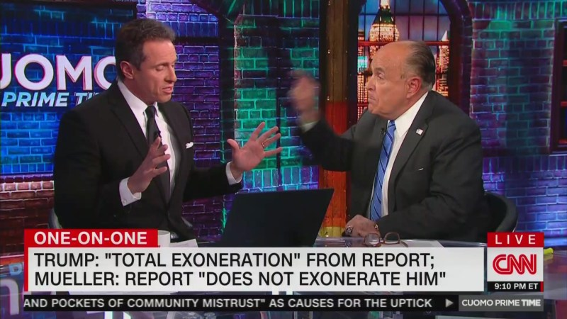Rudy Giuliani Demands CNN Apologize For Torturing Trump 'For Two Years With Collusion'