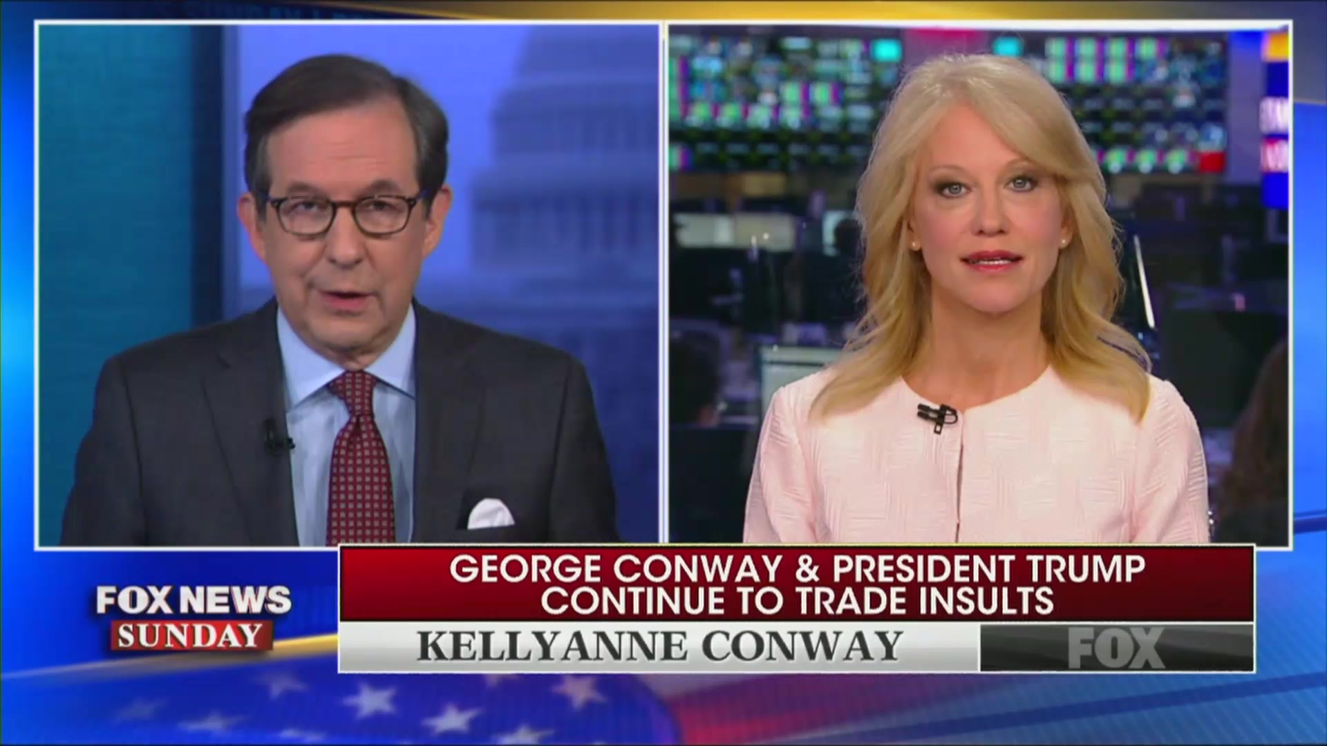 Kellyanne Conway Snaps at Fox's Chris Wallace For Asking About Her Marriage: 'Are You Oprah Now?!'