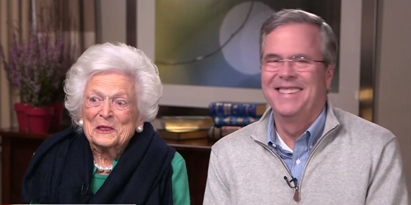 Barbara Bush Kept Clock Next to Her Bed Counting Down Minutes Left in Trump's Presidency