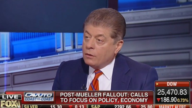New York Times Report Contradicts Judge Napolitano on Length of Mueller Report