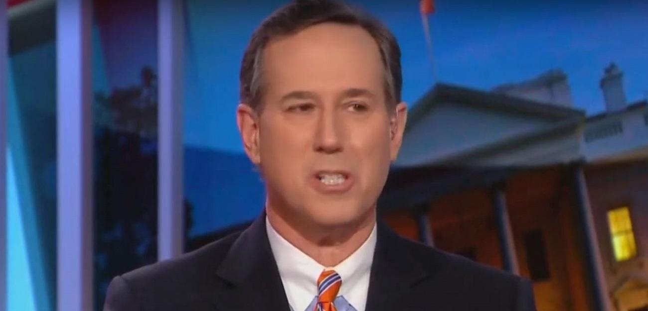 CNN's Rick Santorum Willfully Deceives on Trump Interfering in Time Warner-AT&T Merger