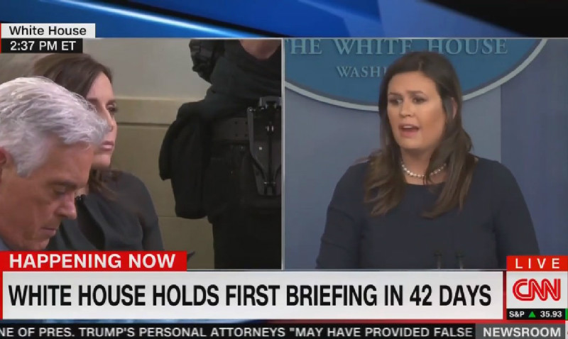 Sarah Sanders: Ask Democrats If Trump Really Believes Democrats Hate Jews