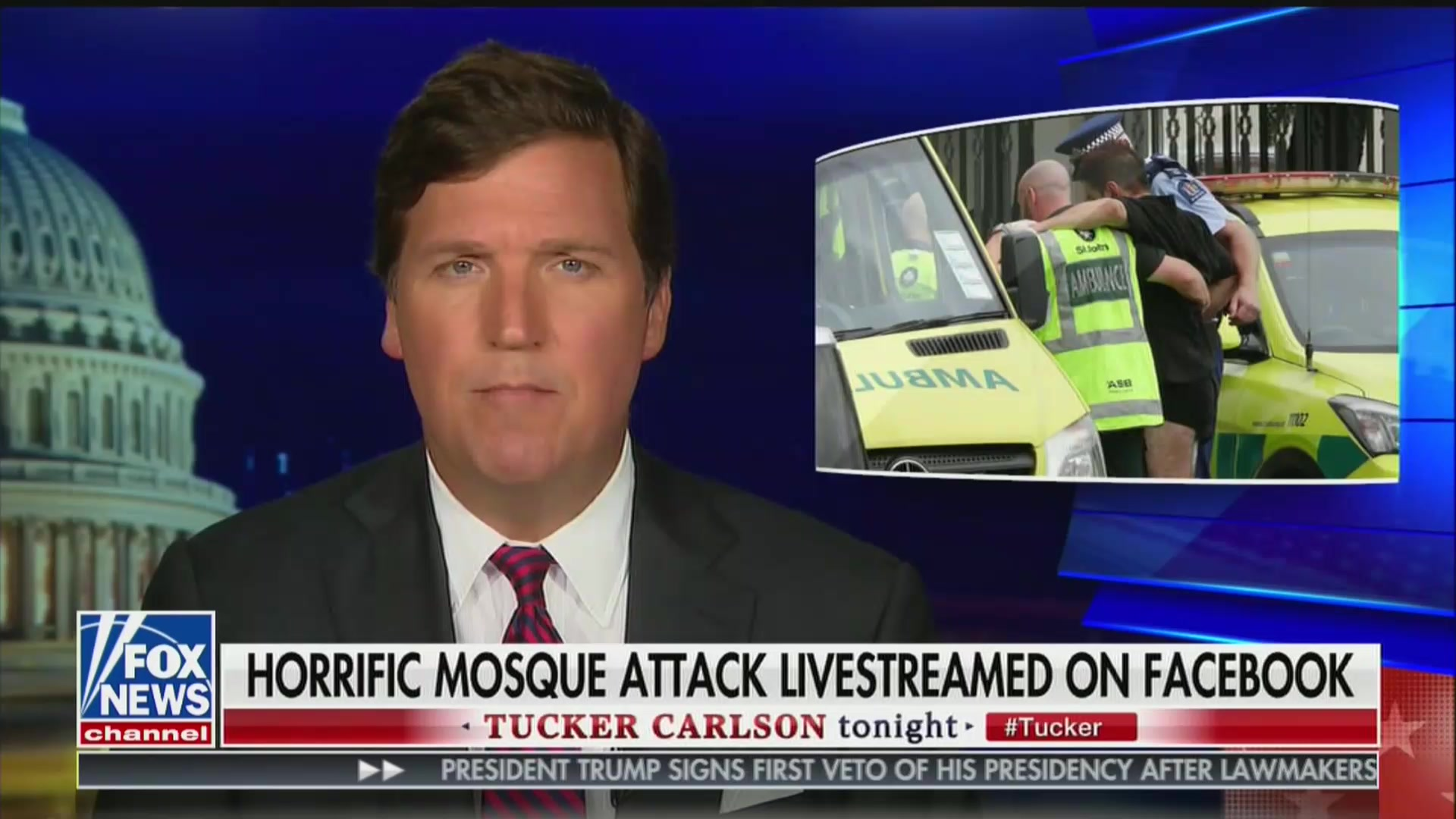 Tucker Carlson Shares New Zealand Shooter's Photo On-Air, Uses Massacre to Attack AOC