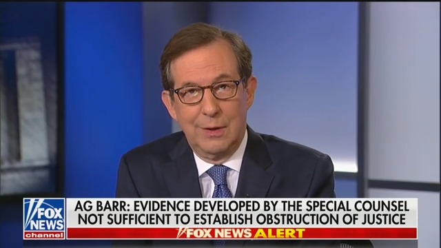 Fox's Chris Wallace Trashes Barr's Mueller Report Presser: Acted Like Trump's Defense Lawyer