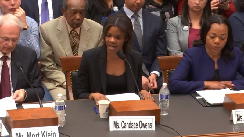 Candace Owens Says Congressional Hearing on White Nationalism Should Focus on Antifa Instead