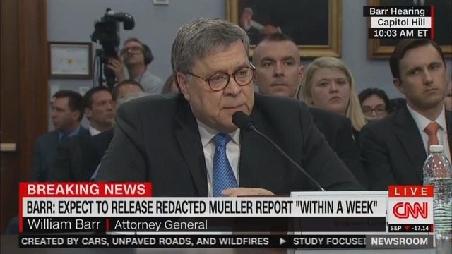 WATCH: William Barr Dodges When Asked If White House Has Seen Mueller Report