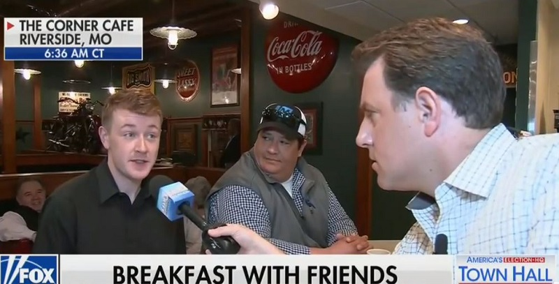 Fox News Reporter Perplexed When Diner Guest Tells Him He Supports Higher Taxes For Green New Deal