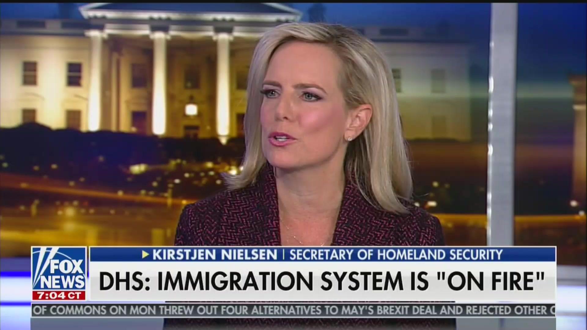 Kirstjen Nielsen Tells Tucker Carlson That Eliminating Birthright Citizenship Is 'On the Table'