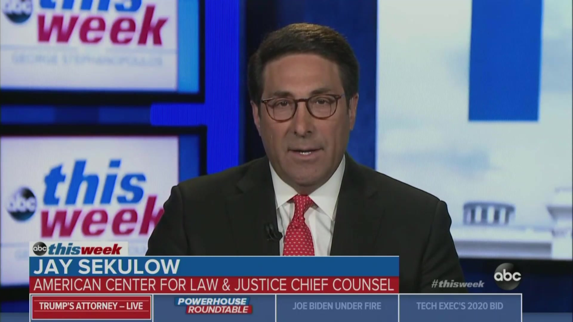Trump Attorney Jay Sekulow Suggests President's Tax Returns Show Criminal Activity