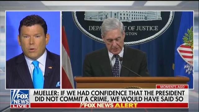 Fox Anchor Bret Baier: Mueller's Statement Was NOT 'No Collusion, No Obstruction'