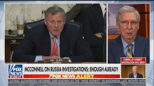 Mitch McConnell Reassures Hannity: Don Jr. Subpoena Will 'Have a Happy Ending'