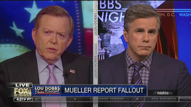 Fox's Lou Dobbs: Should Robert Mueller and James Comey Be Investigated for Collusion?
