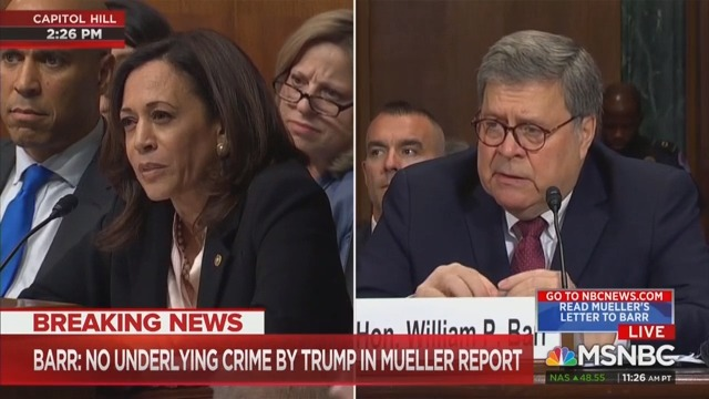 Barr Sputters After Kamala Harris Grills Him on Whether White House Asked Him to Investigate Anyone