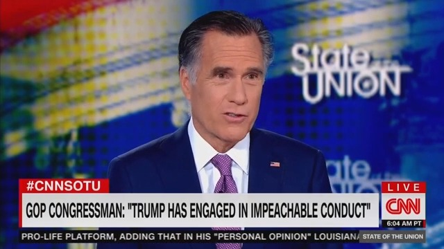 Mitt Romney: Justin Amash's Call to Impeach Trump a 'Courageous Statement'