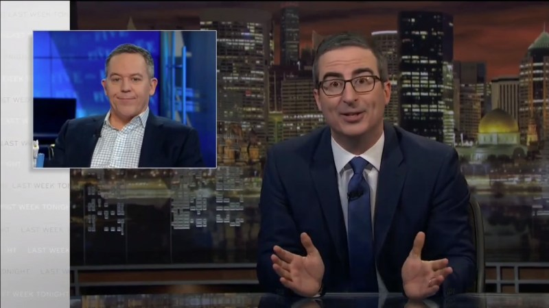 John Oliver Shreds Fox News' Greg Gutfeld for 'Breathtakingly Stupid' Iran Remarks