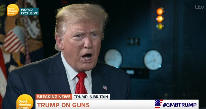 "Trump Downplays American Gun Violence: British Hospitals Are ""a Sea of Blood"" Because of Stabbings"